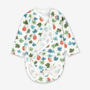 Autumn Hedgehog Wraparound Baby Bodysuit  Pink