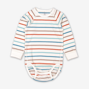 Striped Baby Bodysuit Black