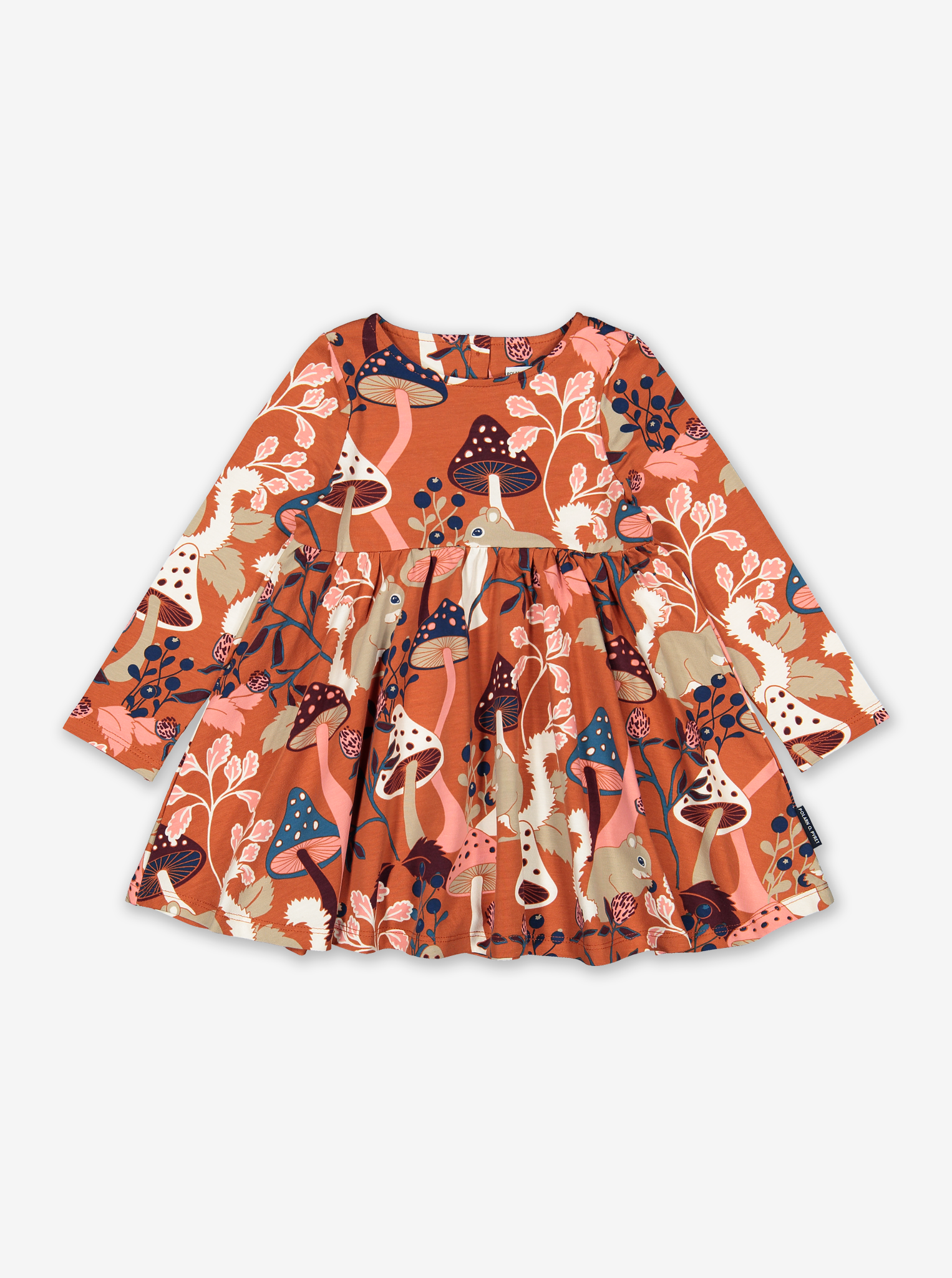Nordic Forest Kids Dress Red