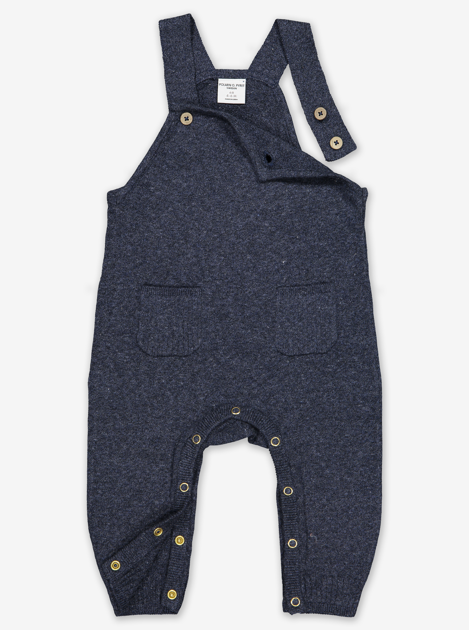 Soft Knit Baby Dungarees Yellow