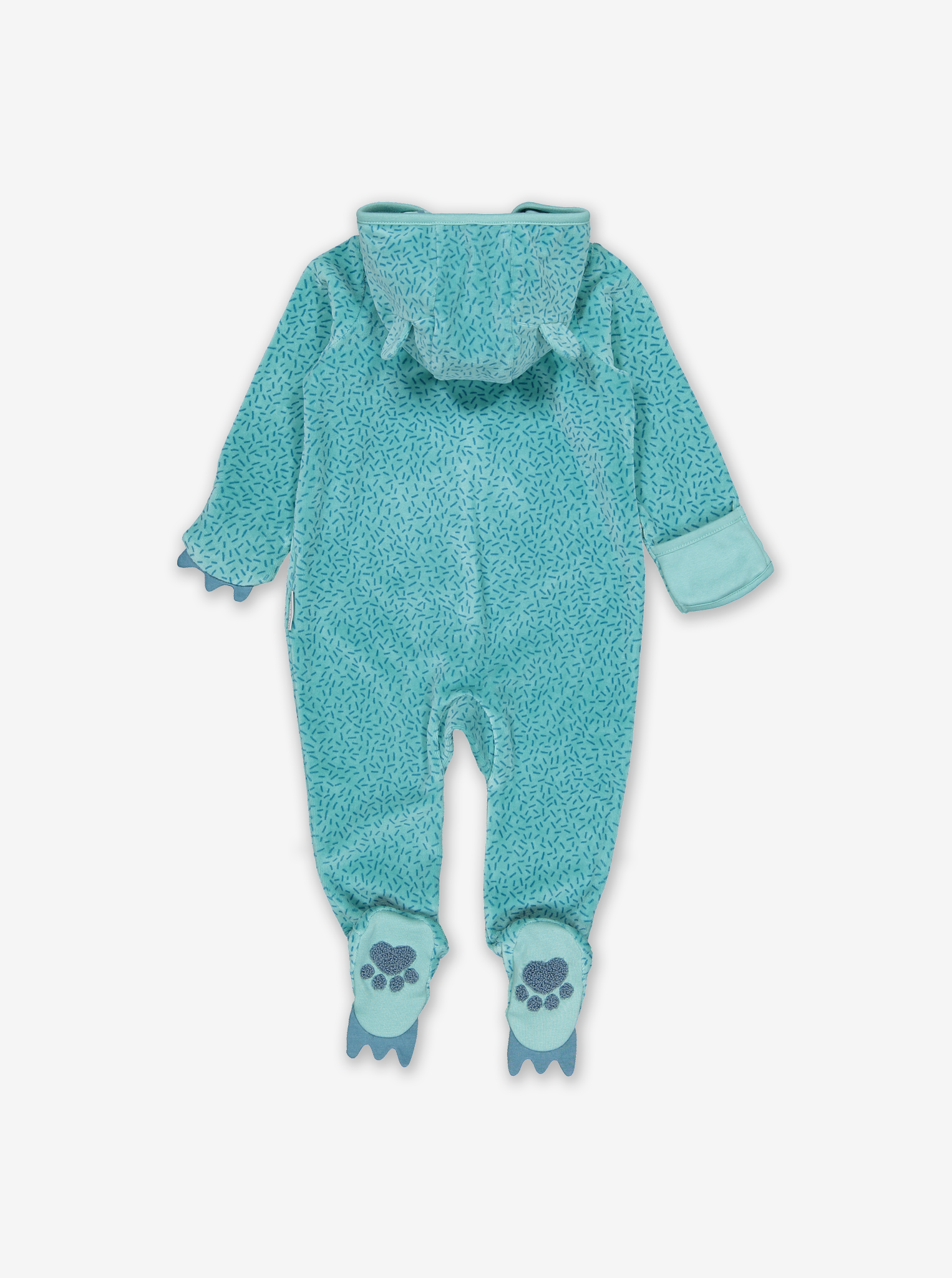 Velour Hedgehog Baby All-In-One White