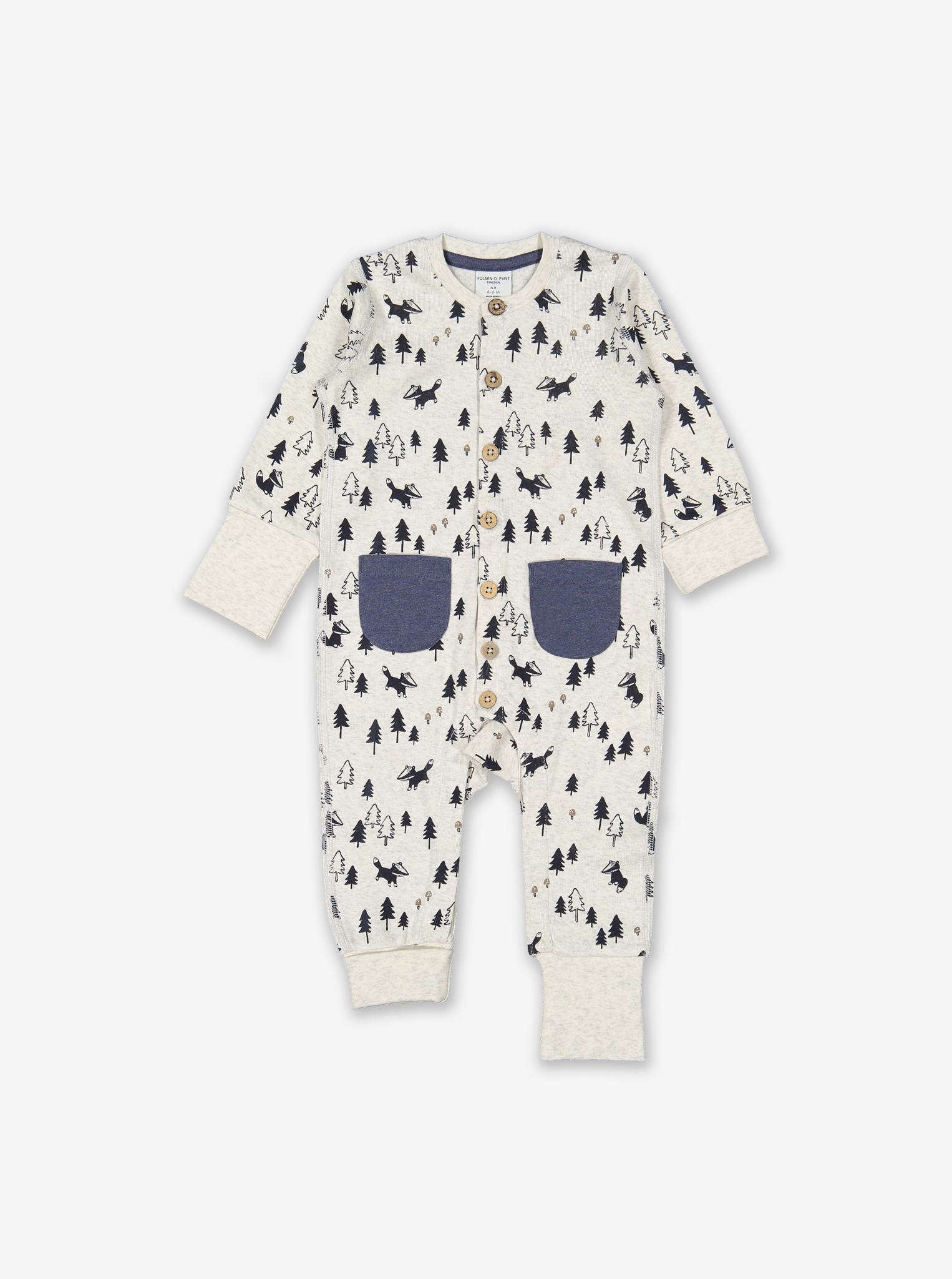 Badger Print Baby All-In-One Purple