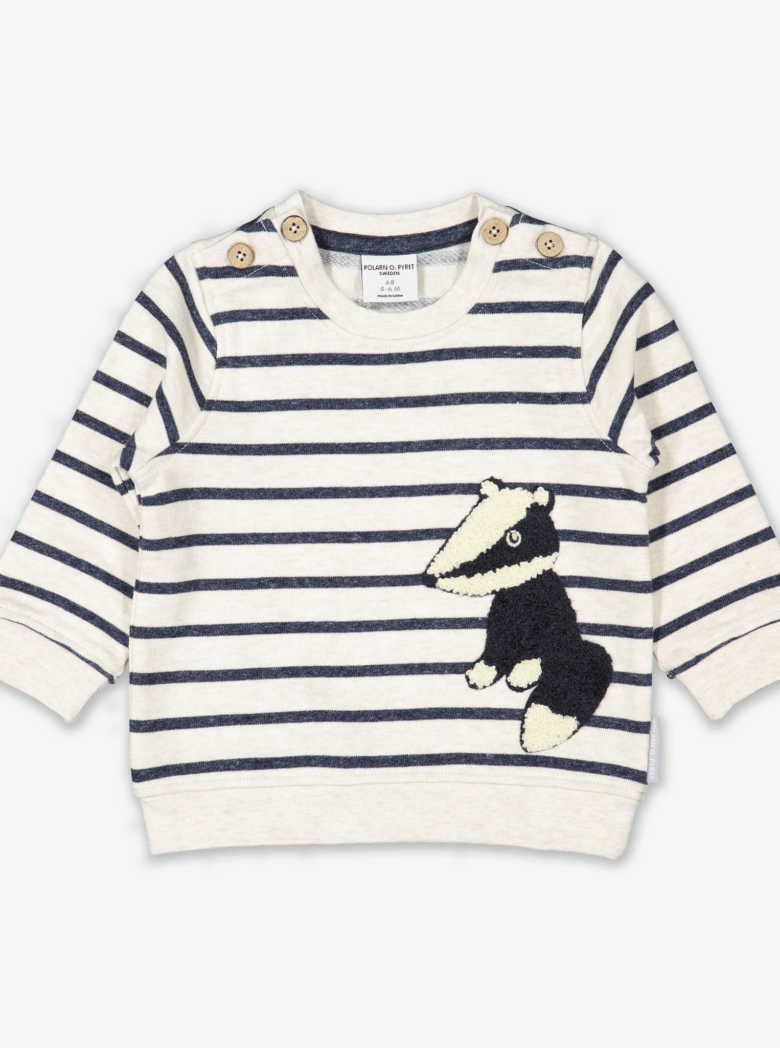 Badger Appliqu㉠Baby Sweatshirt White