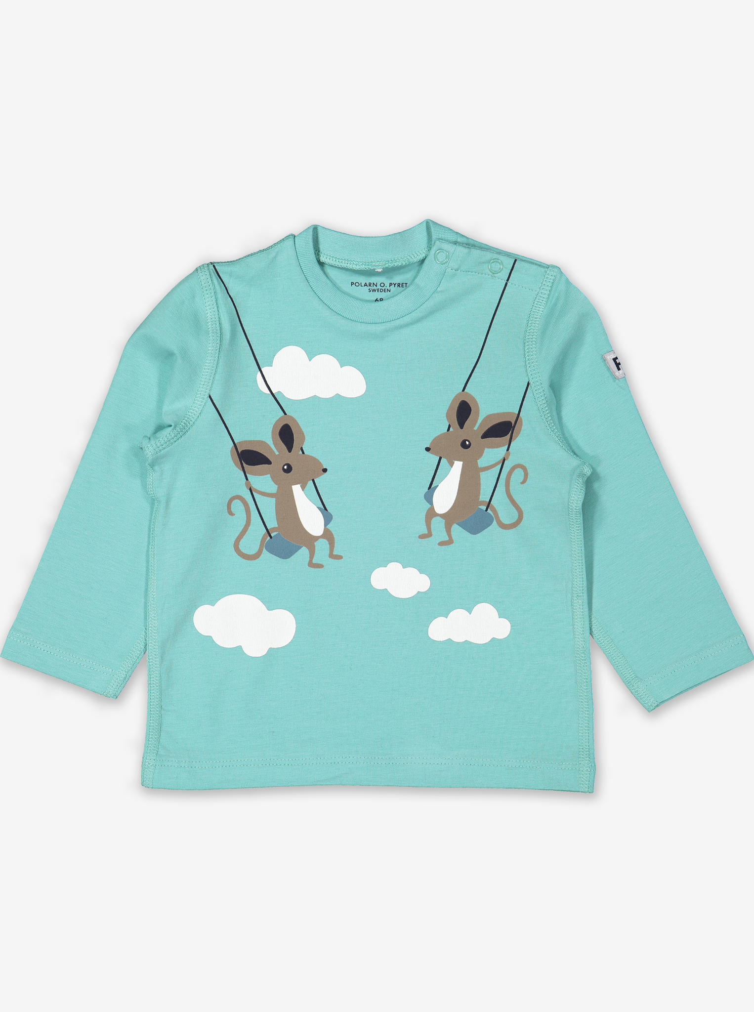 Animal Friends Baby Top Blue