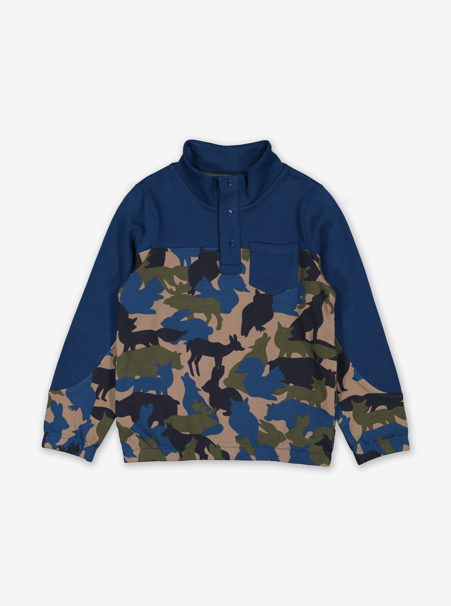 Animal Camo Kids Sweatshirt Blue