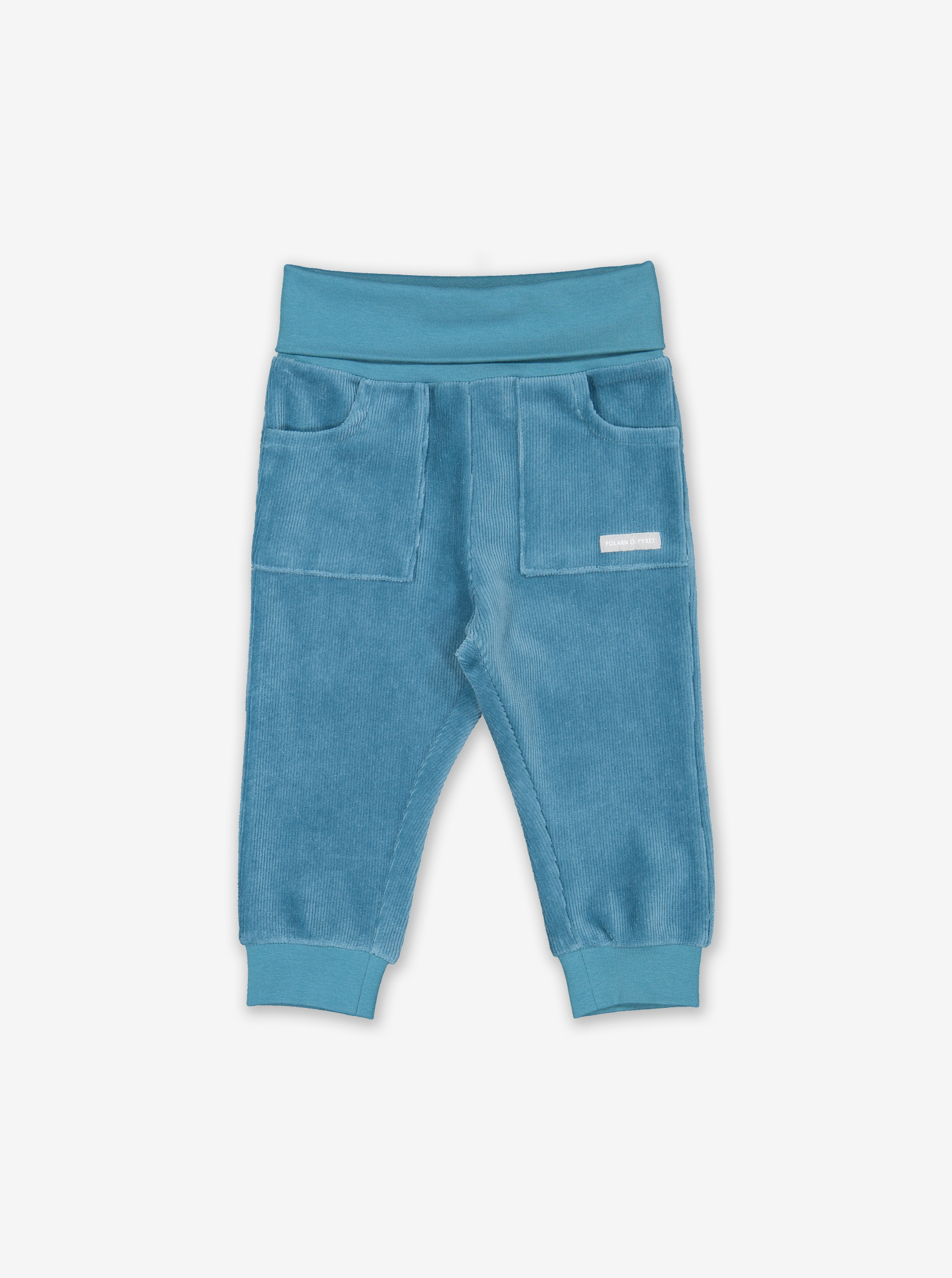 Ribbed Velour Baby Trousers Blue