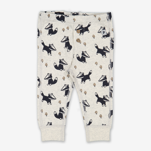 Badger Print Baby Trousers Blue