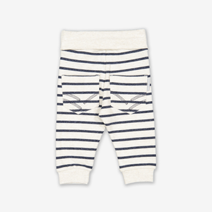 Knee Patch Stripe Baby Trousers Grey