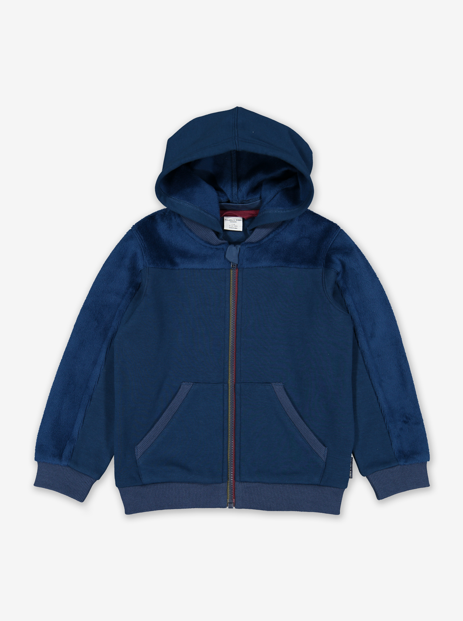 Soft Zip Up Kids Hoodie Red