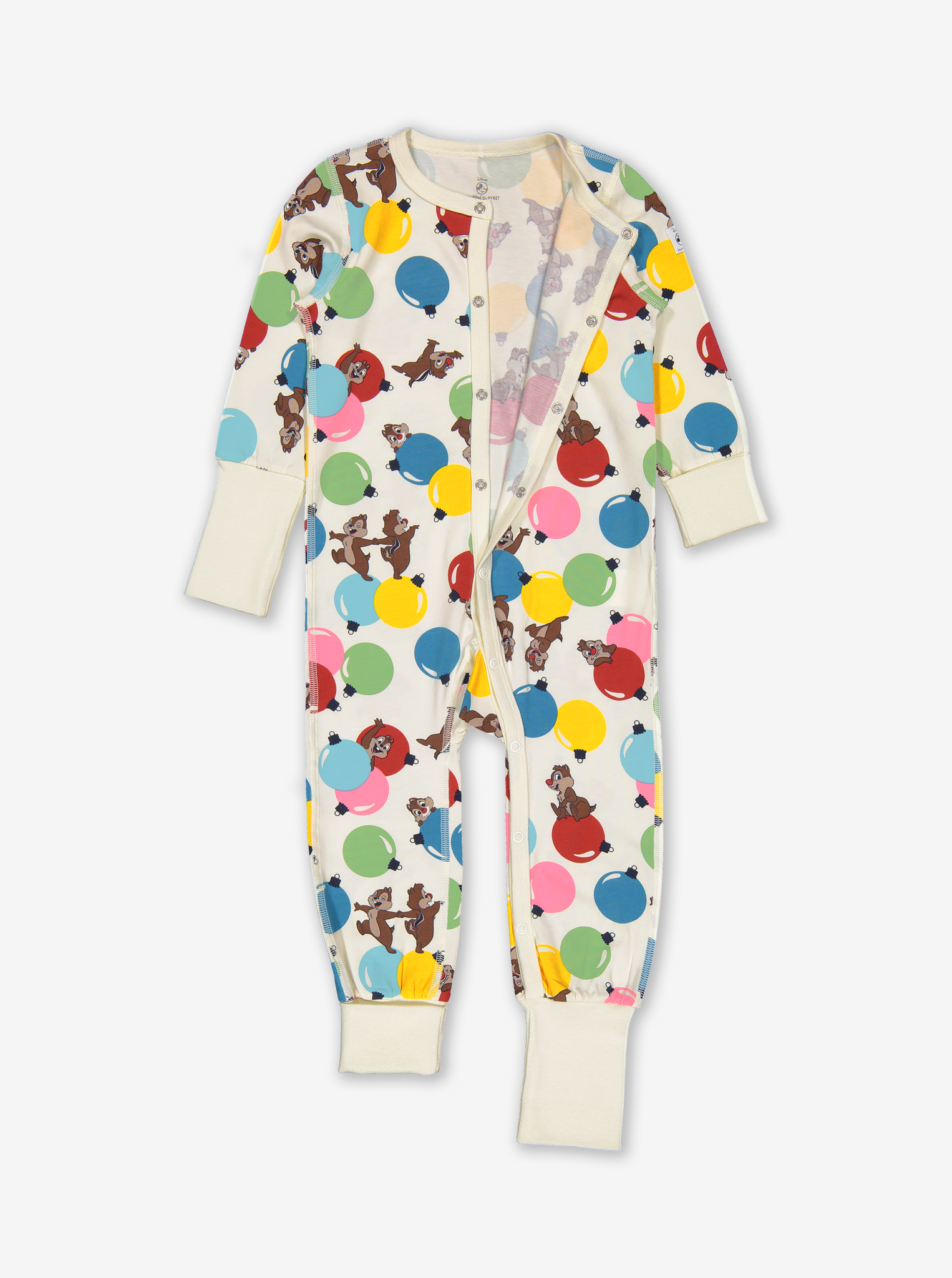 Chip 'N' Dale Baby Onesie Pyjamas Natural