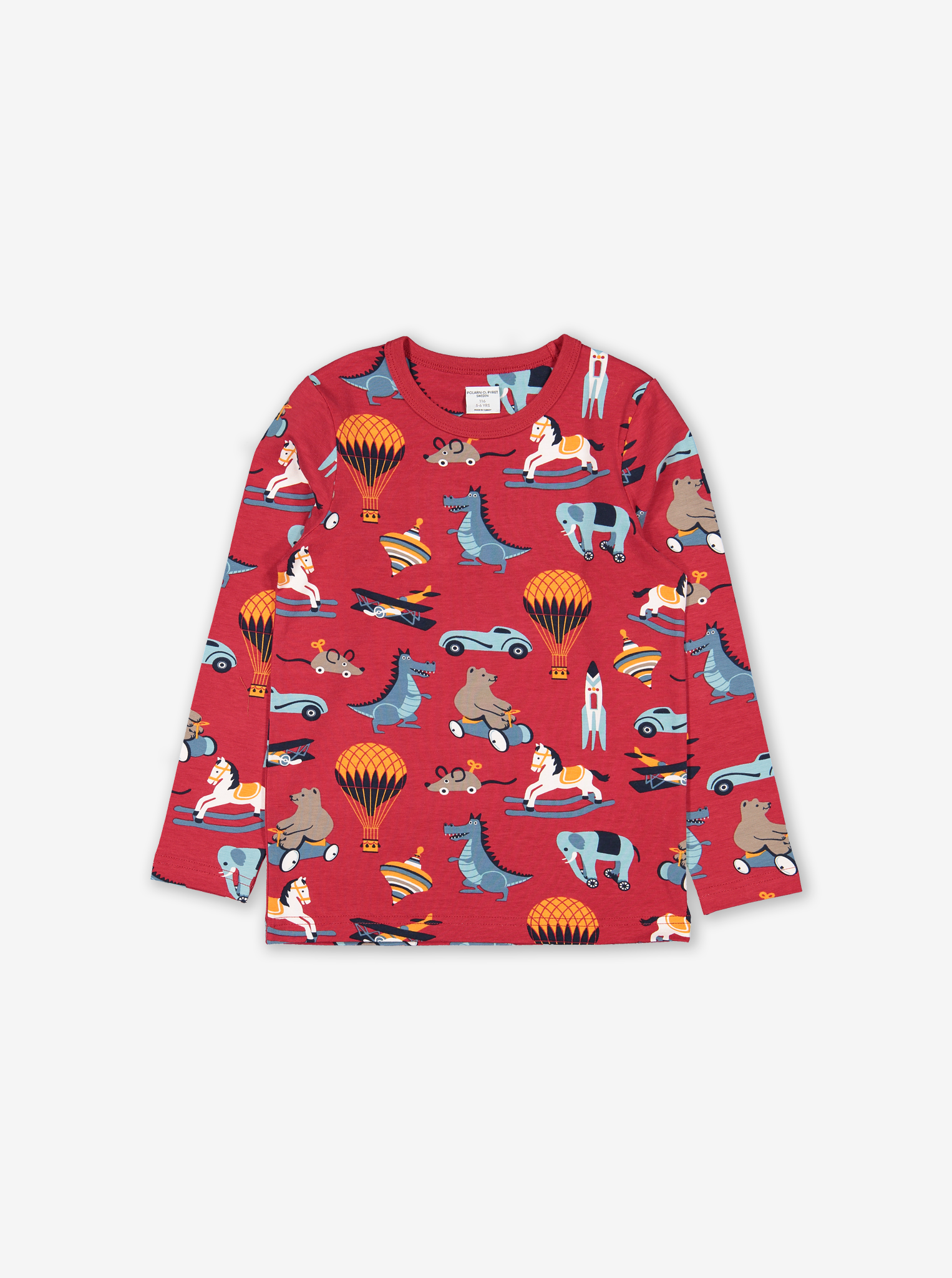 Toy Print Kids Top Red