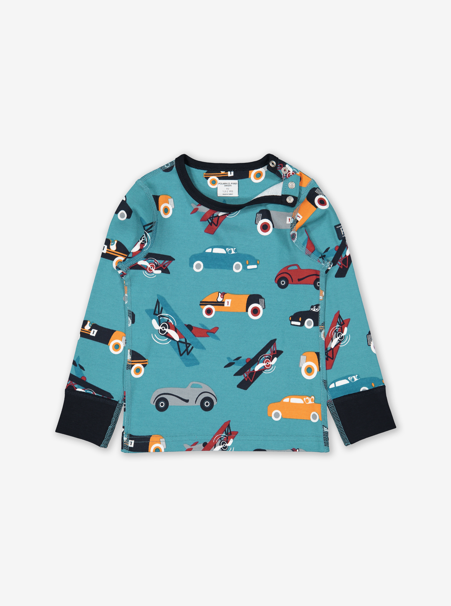 Cars & Airplanes Kids Top Blue