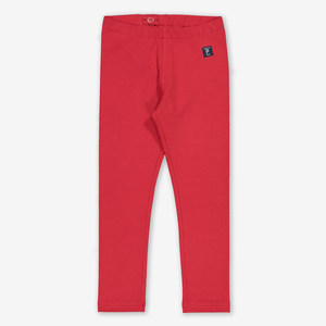 Organic Kids Leggings Red