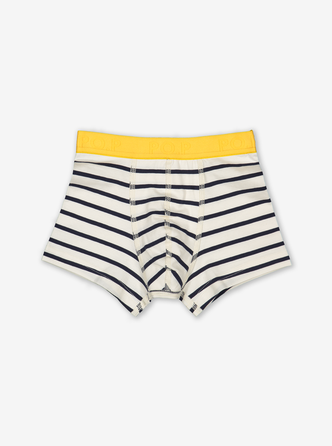 Striped Boys Boxers Natural