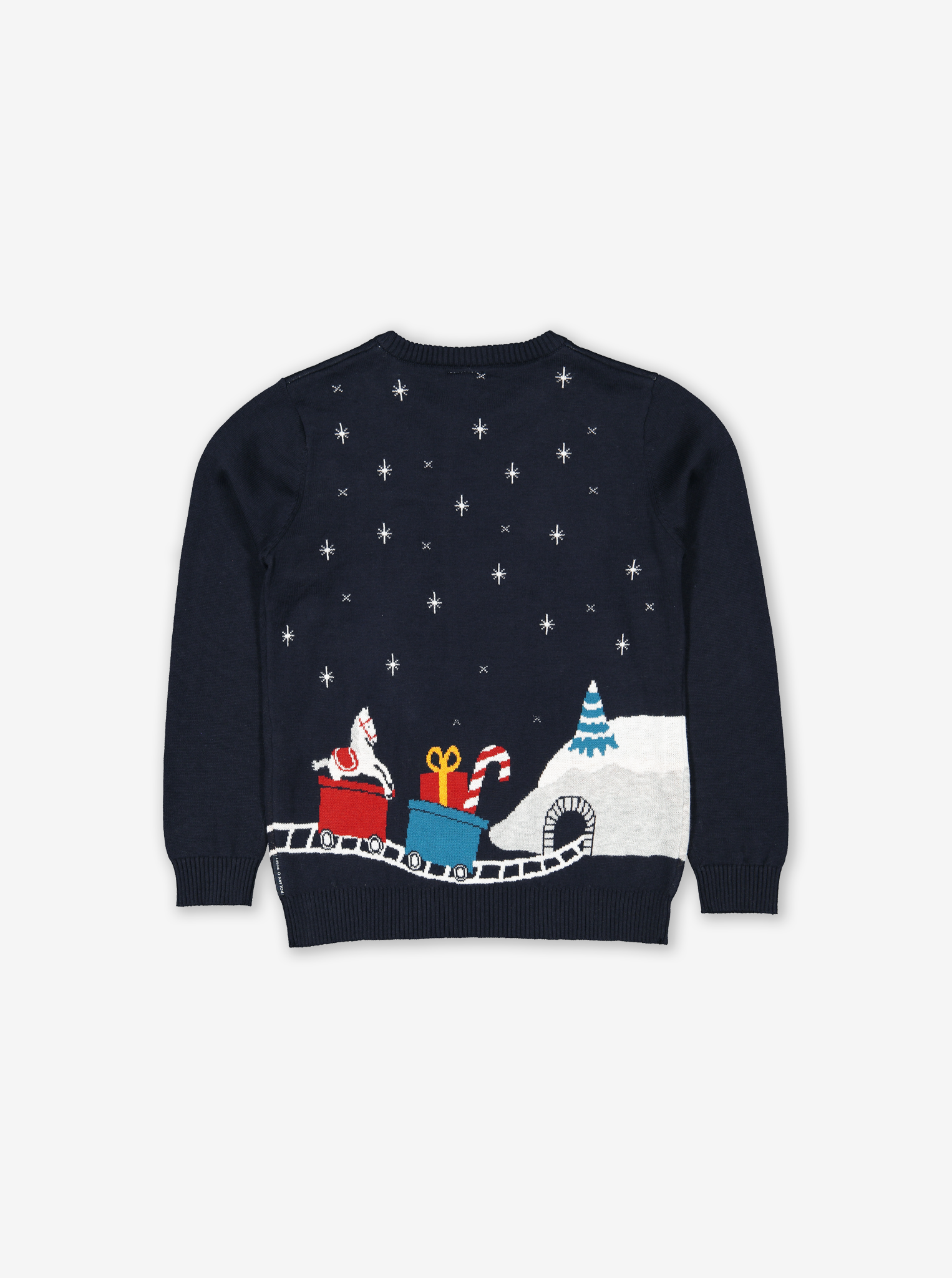 Toy Train Christmas Kids Jumper Blue