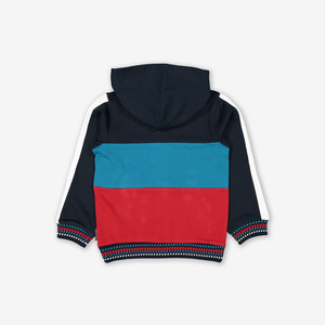 Block Colour Kids Hoodie Blue