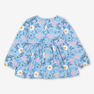 Rocking Horse Pockets Kids Top Blue