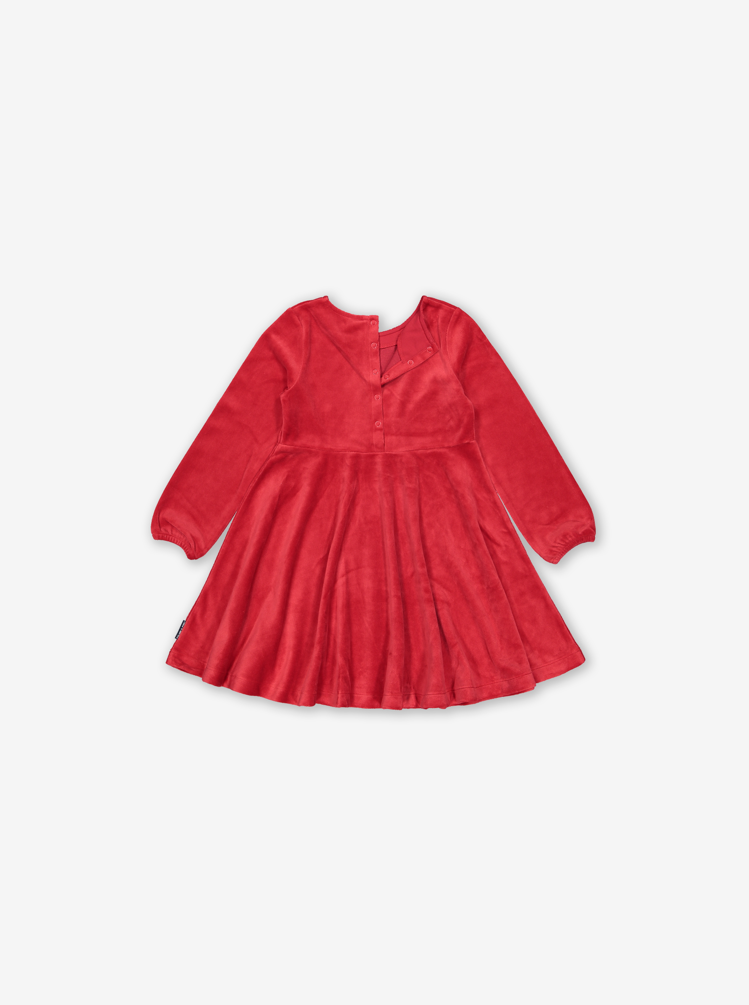 Red Velvet Kids Dress Red