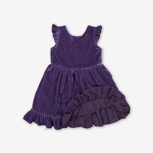 Velvet Sparkle Kids Party Dress Purple