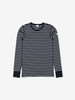 PO.P Stripe Adult Top Navy Unisex XS -XL