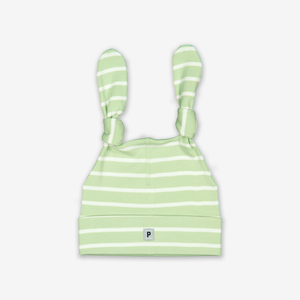 Striped Baby Hat-Unisex-1-24m-Green