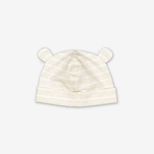 Striped Balloon Baby Beanie Hat-Unisex-0-2y-White