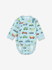 Vehicle Print Baby Wraparound Bodysuit-Boy-0-6m-Blue