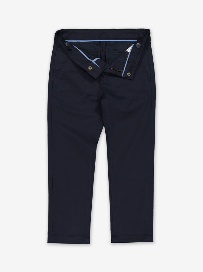 Kids Chino Trousers-Boy-1-12y-Blue
