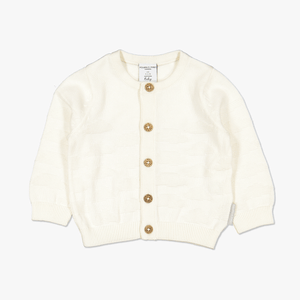 Cloud Knit Baby Cardigan-Unisex-0-1y-White