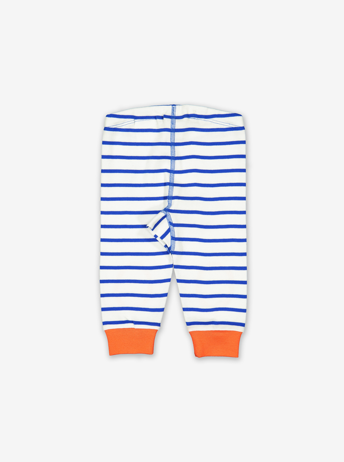 Striped Baby Leggings-Unisex-0-1y-White