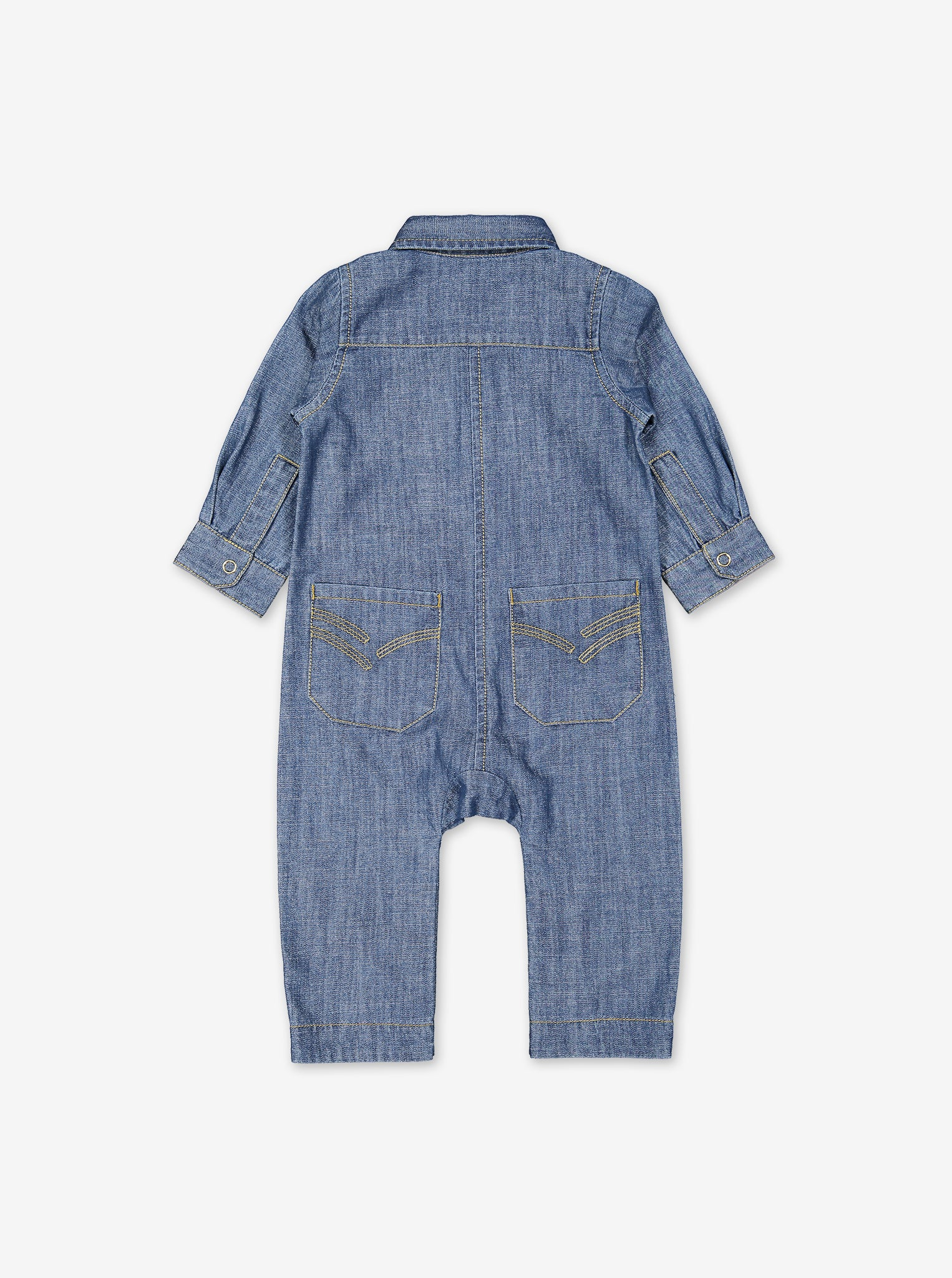 Soft Denim Baby Jumpsuit