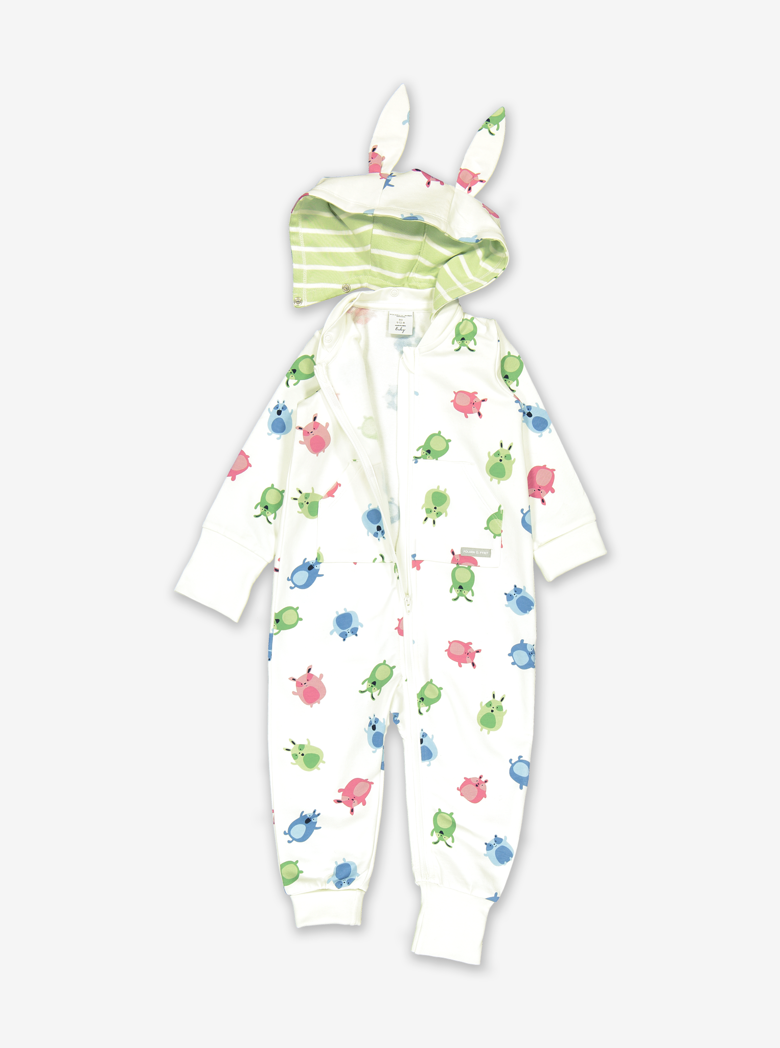 Cuddly Creatures Baby All-In-One-Unisex-0-1y-White
