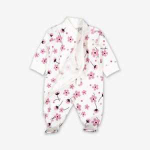 Cherry Blossom Baby All-In-One-Girl-0-1y-White