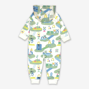 Fantasy Print Baby All-In-One-Unisex-0-1y-Green