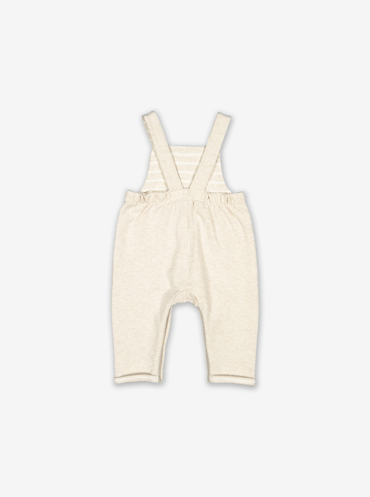 Embroidered Baby Dungarees-Unisex-0-1y-White