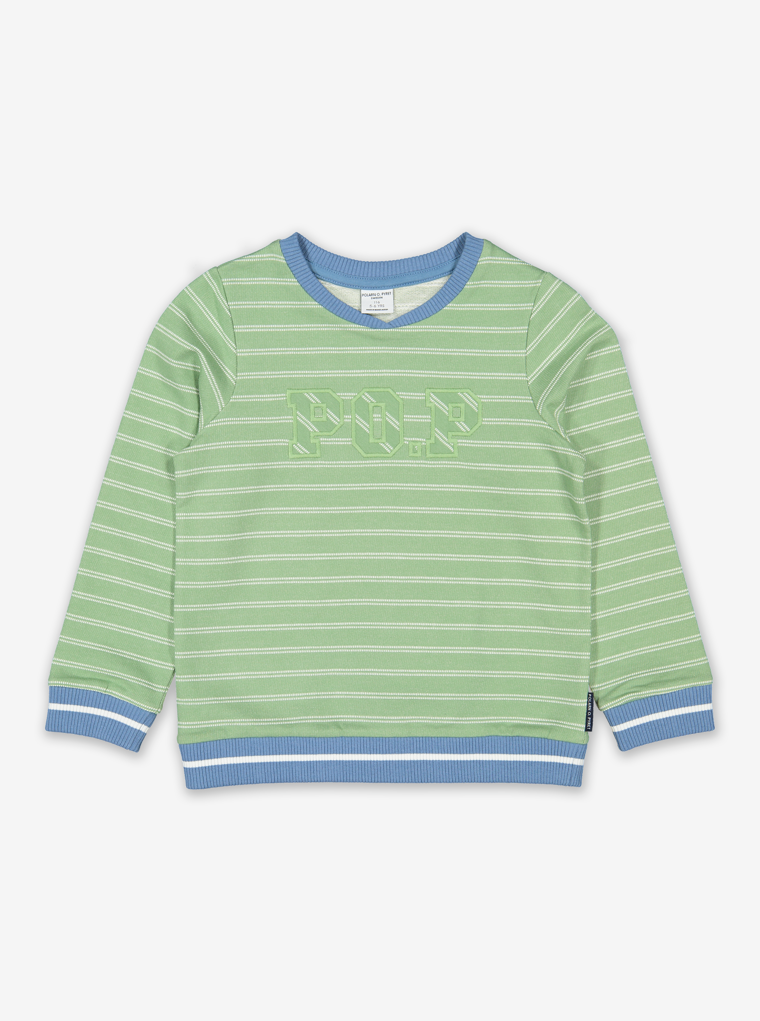 Po.P Stripe Kids Sweatshirt-Boy-1-6y-Green
