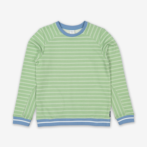 Striped Kids Sweatshirt-Boy-6-12y-Green