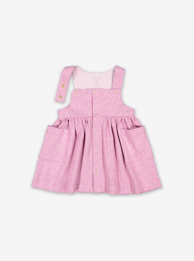 Pocket Baby Pinafore Dress-Girl-0-1y-Purple