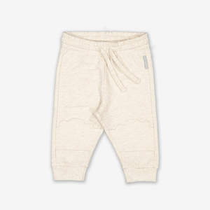 Cloud Knee Patch Baby Joggers-Unisex-0-1y-White