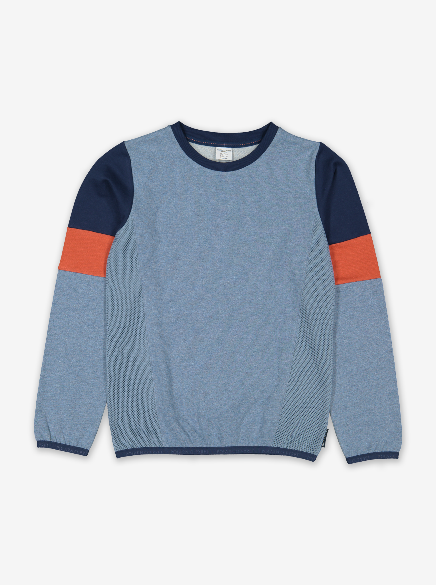 Colour Block Kids Sweatshirt-Boy-6-12y-Blue