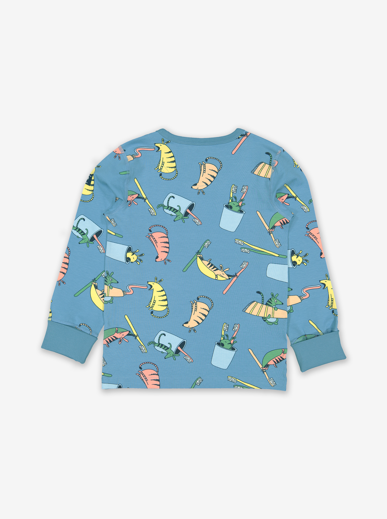 Numbat Print Kids Pyjamas-Boy-1-8y-Blue