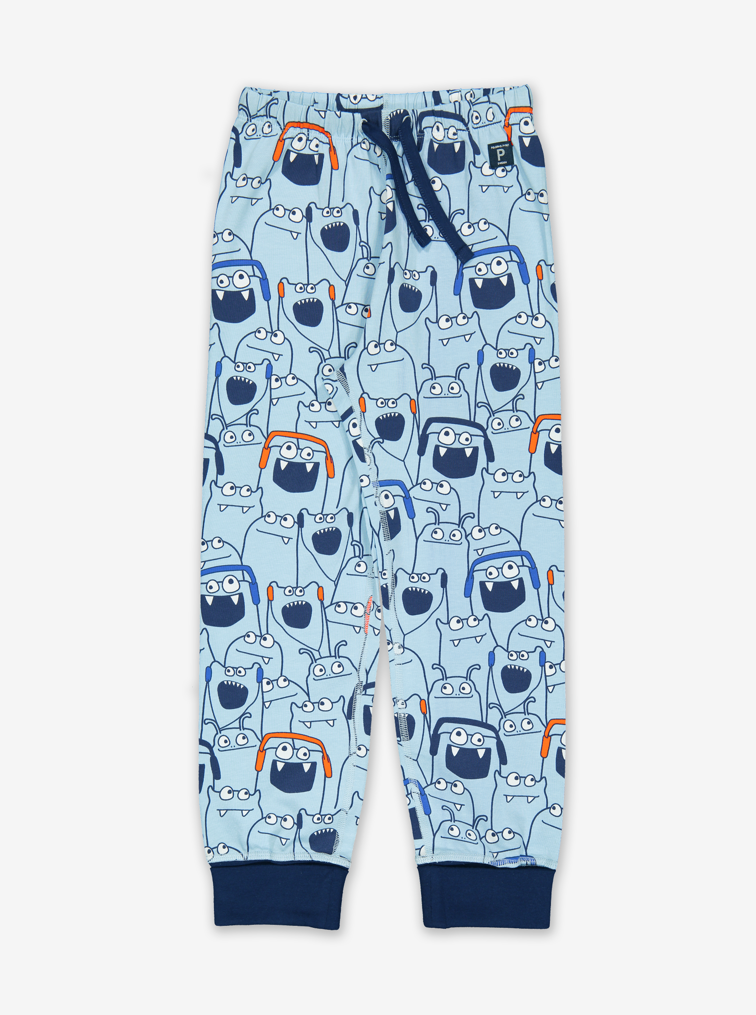 Stripes & Monsters Kids Pyjamas-Boy-1-12y-Blue