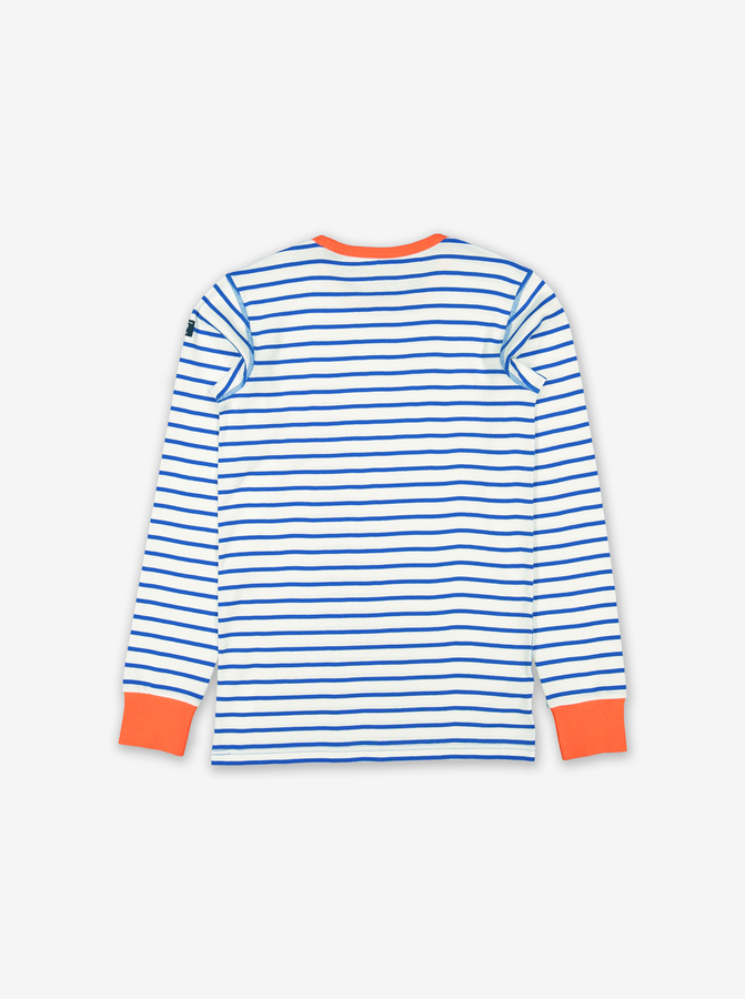 Striped Adult Top-Unisex-XS - XL-White