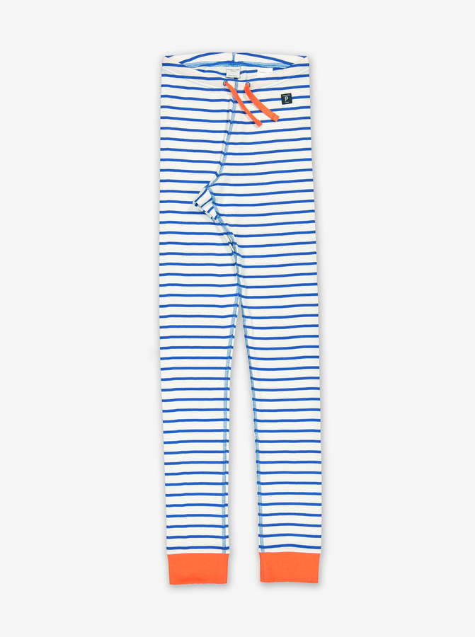 Striped Adult Leggings-Unisex-XS - XL-White
