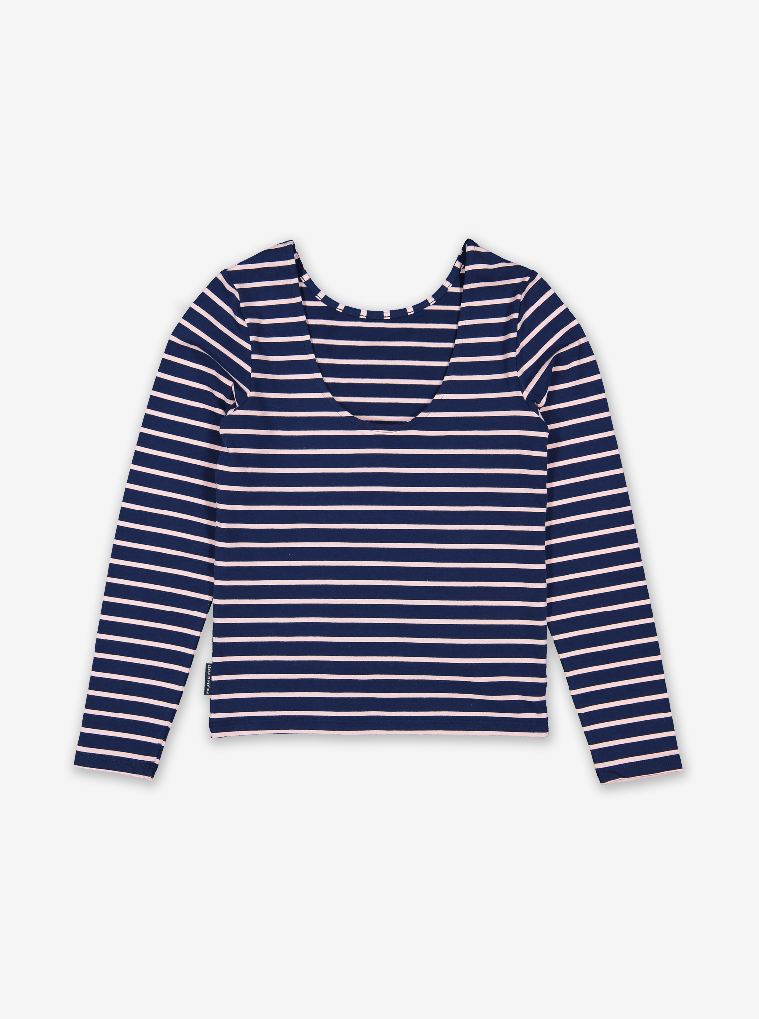 Striped Kids Tie Top-Girl-6-12y-Blue