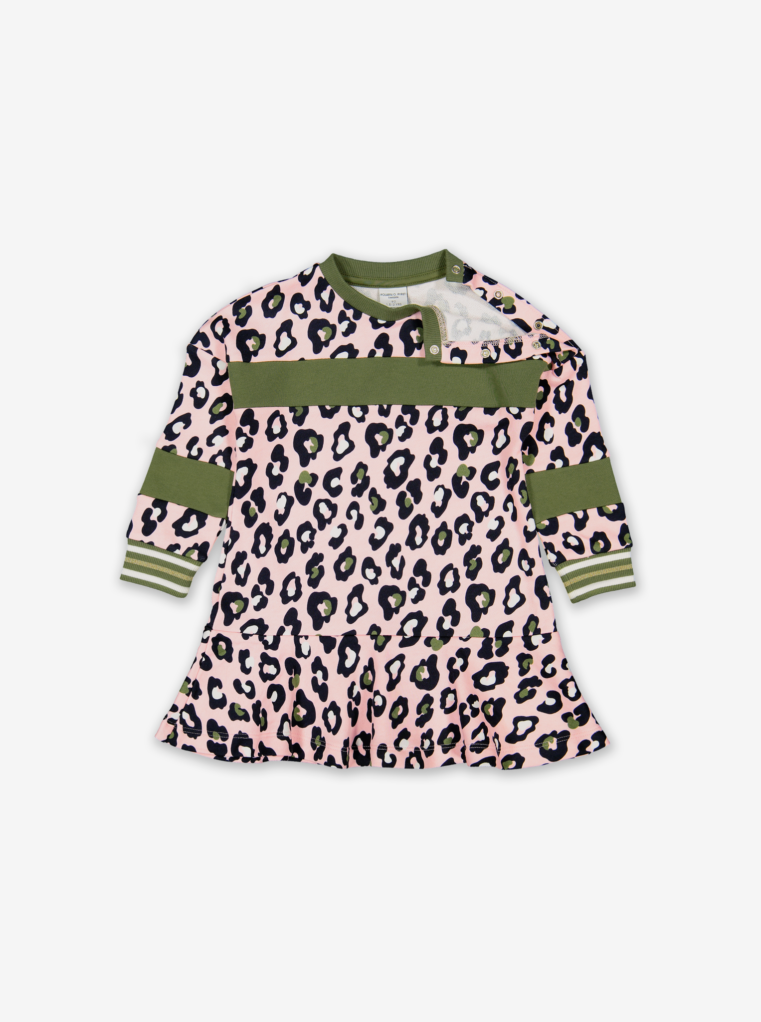 Leopard Print Kids Dress-Girl-1-6y-Pink