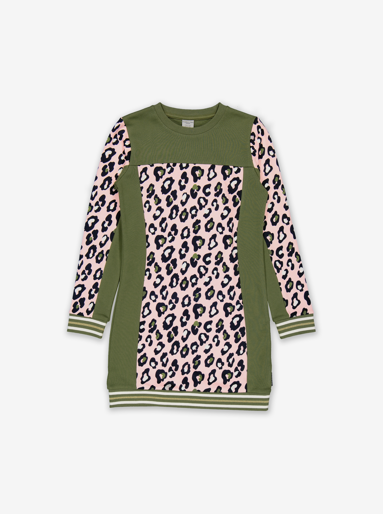 Leopard Print Kids Dress-Girl-6-12y-Green