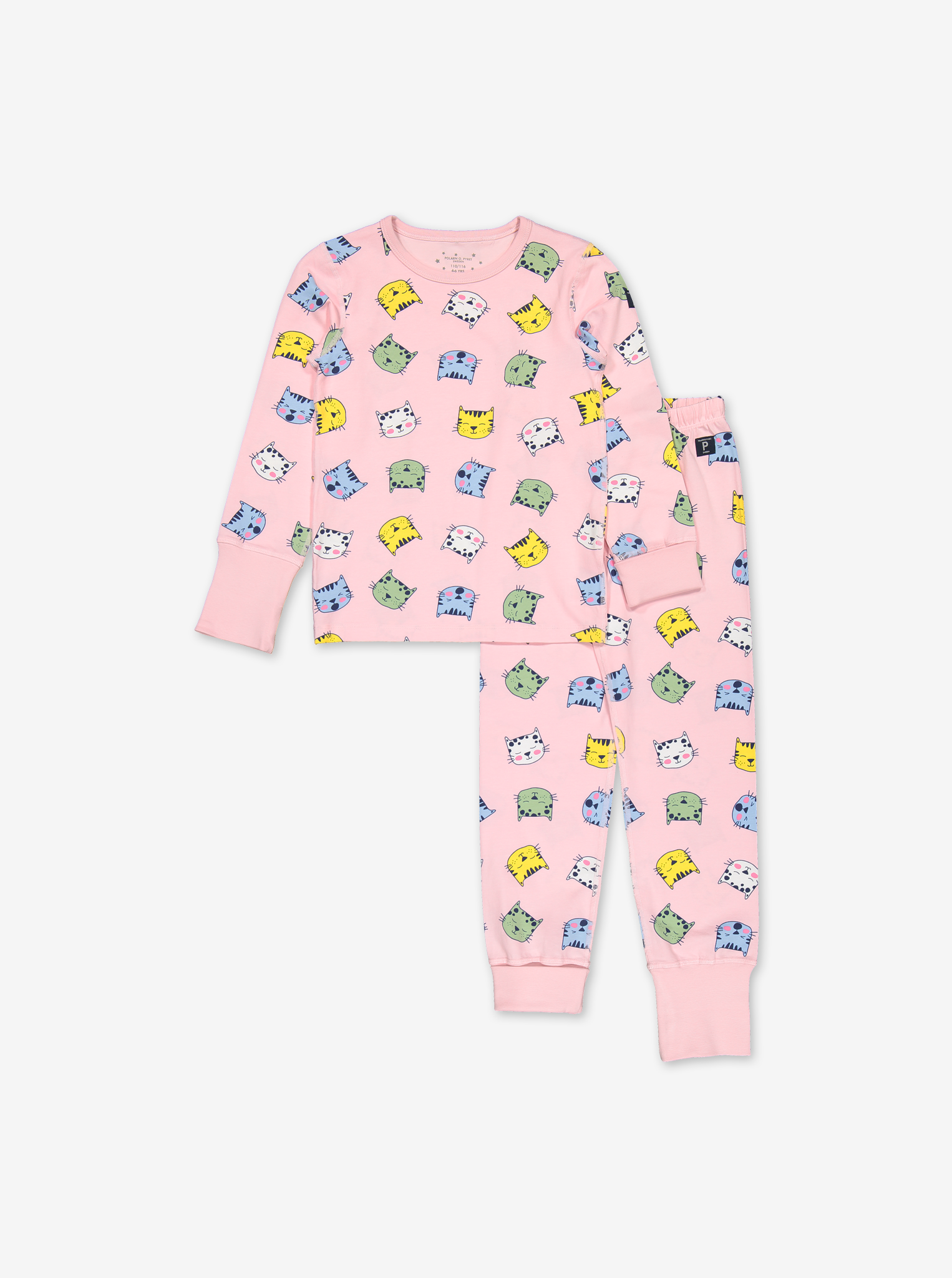 Sleepy Cats Kids Pyjamas-Girl-1-12y-Pink