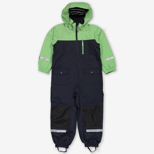 Waterproof Shell Kids Overall-Unisex-Green-2-8y