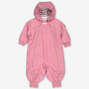 Waterproof Lightly Padded Baby Overall-Girl-Pink-4-12m